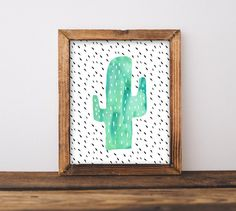 Cactus Wall Art Nursery Printable Gender by INVITEDbyAudriana