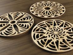 Five Ply Design Wood Coasters Primitive Series