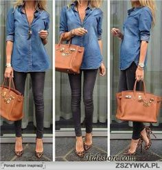 Chambray and camel