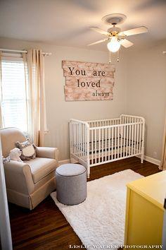 i like the big saying hanging over the crib