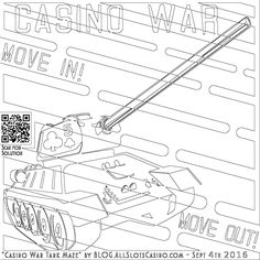 coloring pages of casino | Artillery Drone Coloring Page | Free Coloring Pages for ...