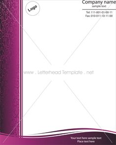 purple graphy letterhead template