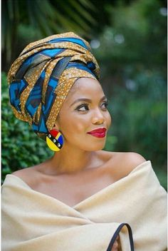 Beautiful collection of the best and most stylish ankara head wrap styles for women. These ankara scarfs are classic and trendy African Inspired Fashion, African Fashion Dresses, African Dress, African Fabric, South African Fashion, African Hair, African Beauty, African Women, Terry Pheto
