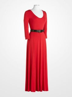 6dfa4cdfac39  CalvinKlein  red  longsleeve  maxi  dress  fall  fashion  designer  womens   style