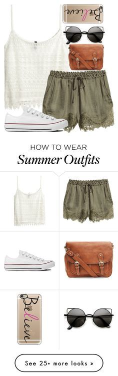 """""""Late Summer Outfit"""" by xx-tropicalvibes-xx on Polyvore featuring H&M, Converse, Casetify and tropicaloutfits"""