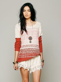 Free People Oversize Pattern Pullover, 128.00