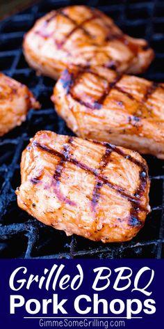 Grilled Bbq Pork Chops, Bbq Pork Ribs, Grilled Meat, Porkchops On The Grill, Pork Chops On Grill, Meat On The Grill, Bbq Meat, Bbq Marinade, Recipe Marinade