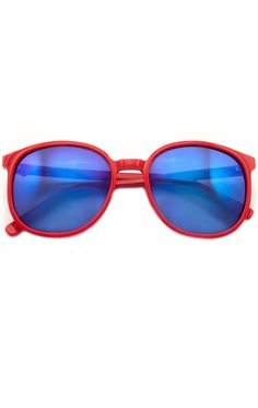 e1e8aa9d85e Popfox Mirror Frame Red Retro Sunglasses