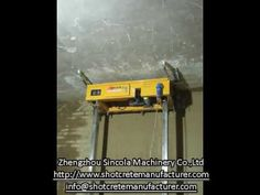 Wall Plastering Auto Rendering Machine Operation Video