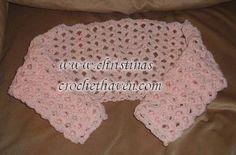 free crochet pattern girls hat and shrug