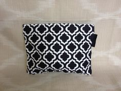 Tile print zipper top wet bag