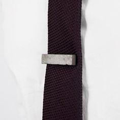 Concrete Tie Clip by Maple + Mauve | http://adornmilk.com