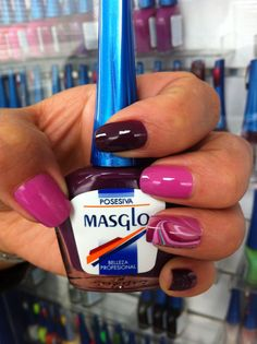 Posesiva con Masglo. Colección Sensaciones 2014. Masglo Nails What Is Cute, Nail Colors, Projects To Try, Food And Drink, Nail Polish, Nails, Beauty, 1, Manicure