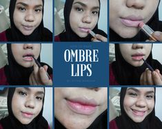 Trying my favourite lip liner to make a natural look ombre lips. And i did it!