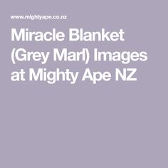 Miracle Blanket (Grey Marl) Images  at Mighty Ape NZ