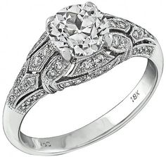 Estate 1.18ct Diamond Engagement Ring Photo 1