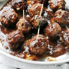 Pineapple Barbecue Sauce Glazed Meatballs: Delicious, juicy, homemade Meatballs prepared with a sweet and tangy Pineapple Barbecue Sauce. Grilled Blooming Onion Recipe, Blooming Onion Recipes, Meatball Recipes, Beef Recipes, Cooking Recipes, Shrimp Recipes, Healthy Recipes, Glazed Meatballs Recipe, Bbq Meatballs