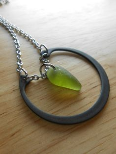 Sea Glass Necklace  Beach Glass Hardware Jewelry by SeaFindDesigns, $25.00