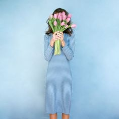 *PRE-ORDER SHIPS blue/white stripe DESCRIPTION: With its straight silhouette and easy, versatile fit, the Reese dress has become a Sonnet James class Girls With Flowers, Play Dress, Mom Style, Stylish Dresses, Blue Stripes, Spring Fashion, Cool Pictures, Spring Summer, Spring Style