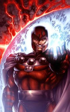 Among the most powerful, recognizable, and infamous mutants to inhabit the planet Earth, Magneto was the X-Men's first major nemesis. Now known as a revolutionist and terrorist, Magneto has fought for the X-Men as many times as he's been against them. Comic Book Characters, Comic Book Heroes, Marvel Characters, Comic Character, Comic Books, Marvel Villains, Marvel Dc Comics, Marvel Heroes, Captain Marvel
