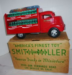 RARE VINTAGE COCA-COLA GMC RED SMITH MILLER SMITTY TOY TRUCK W/CASES & ORIG.BOX | Collectibles, Advertising, Soda | eBay!