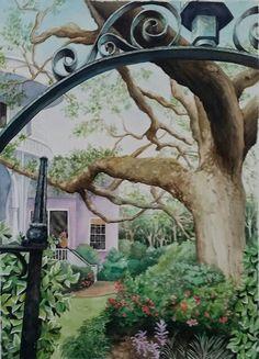 Into the Garden , watercolor