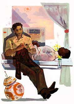 "fixing his jacket+waiting for him to come back home ""<<not a finnpoe shipper but this is absolutely adorable Star Wars Fan Art, Star Wars Meme, Star Trek, Finn Poe, Fanart, Star Wars Ships, Fandoms, Star War 3, Love Stars"