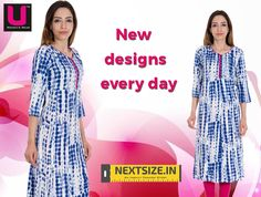 We continuously update our #kurti collection.  Browse through our new line of #Kurtis here: http://nextsize.in/