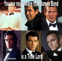 James Bond is a Time Lord. The truth is finally out!