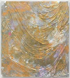 Marianna Uutinen: Iridescent, 2015, acrylic paint skins collaged on canvas, 178 x 161 cm