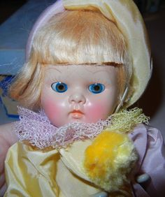 VINTAGE VOGUE GINNY DOLL CLOWN TRANSITIONAL EYES TAGGED INK SPOT BOX ORIGINAL PL