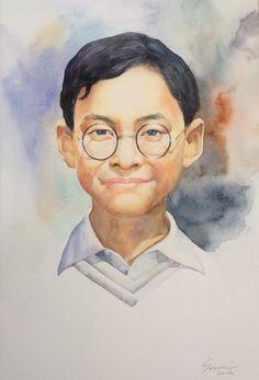 พระบาทสมเด็จพระเจ้าอยู่หัวภูมิพลอดุลยเดช His Majesty King Bhumibol Adulyadej King Bhumipol, King Rama 9, King Of Kings, King Queen, King Painting, Bhumibol Adulyadej, King Of The World, Illustration Sketches, I Am Awesome
