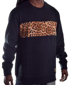Finally Famous By Ecko Men's Cheetah Print Pull Over Sweatshirt