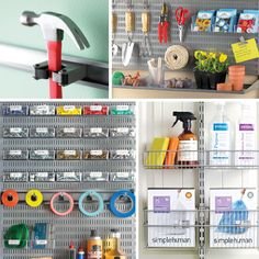 Wondering how to utilize all the space in your garage? If your storage space is limited, consider storing items under a workbench, behind the door, and on vertical wall space. Use door and wall hooks and racks to maximize every inch of space in your garage.