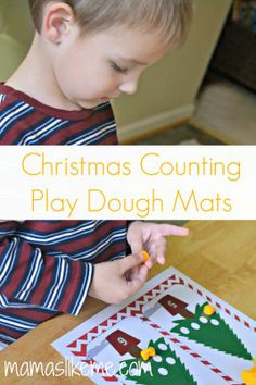 Printable Christmas Counting Play Dough Mats