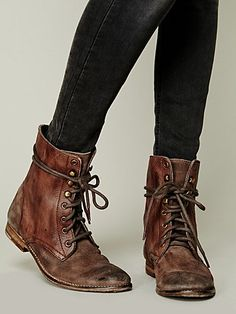 Free People Truemay Lace Up Boot.  I love this style and this color of boot.
