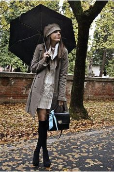 Chictopia Fashion Darlings - Trendsetter - Creative Winter Looks - 2 Rainy Day Outfit For Work, Cute Rainy Day Outfits, Outfit Of The Day, Winter Outfits, Cute Outfits, Athleisure, Fashion Vestidos, Outfit Des Tages, Under The Skirt