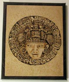 pirograbado cuadro simil madera,cuero ecologico pirograbado,forrado