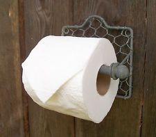 Chicken Wire Toilet Paper Holder -Vintage Style Primitive Country Bathroom Decor