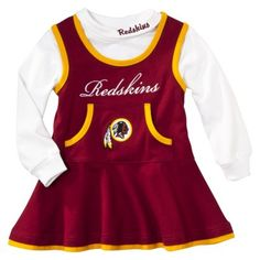 baby redskins cheerleading outfit