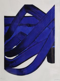 """Composition, 1988, Pierre Soulages, lithograph on Arches, edition 300, paper size 35 x 27 in., France. """"From the set of 22 fine art prints comprising the Official Arts Portfolio of the XXIIVth Olympiad, held in Seoul, Korea in 1988."""""""