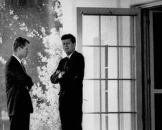 President John F. Kennedy, right, conferred with his brother, Attorney General Robert F. Kennedy, at the White House during the Cuban missile crisis.