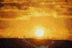 Landscape Original Painting Sunset Art by AnnasDigitalArtDeco Original Art, Original Paintings, Sunset Art, Summer Prints, Large Wall Art, Abstract Landscape, Printable Art, Digital Prints, Cool Designs