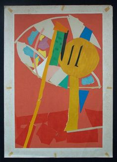 ANDRE LANSKOY (Andrej Michajlovic) 1902-1976  1902 - Moscow - 1976 (Russian / French)    Title: Abstract Composition, ca. 1970's