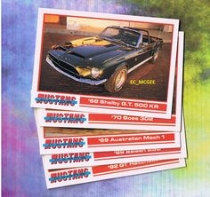 MUSTANG CARDS LOT OF 5