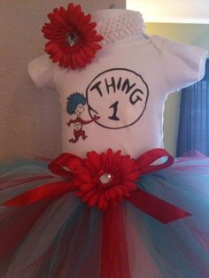 thing 1 thing 2 outfits | and Girl THING 1 and THING 2 outfit set..2 Onesies...1 Headband...1 ...
