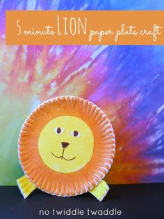 5 minute lion craft out of a paper plate (plus a giveaway!)