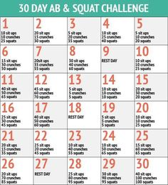 30 ab and squat challenge. http://thephysiqueformula.com/how-to-burn-belly-fat/