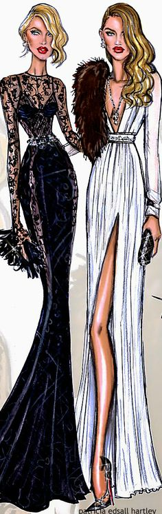 Candice Swanepoel and Rosie Huntington Whiteley by Hayden Williams