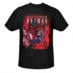 Batman: The Animated Movie Mask of the Phantasm Comic Cover Adult Black T-Shirt |